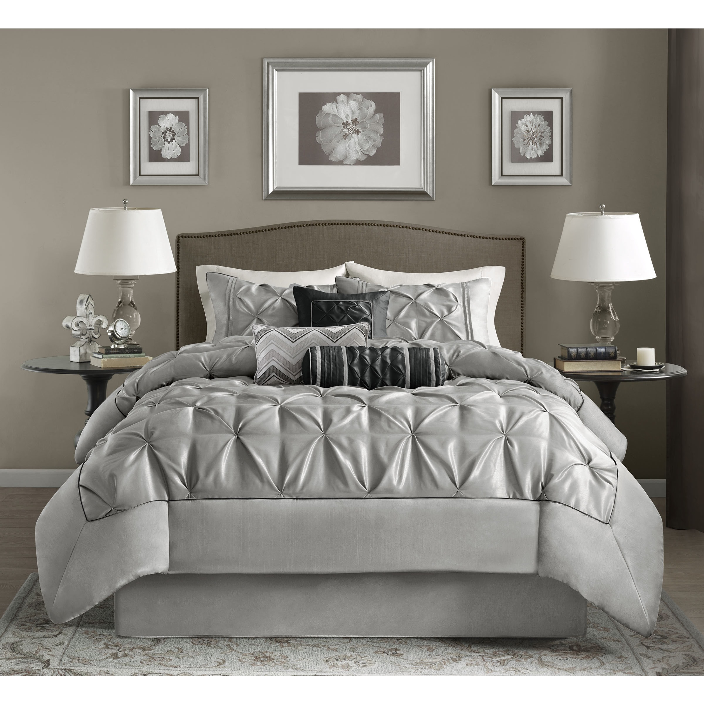 piece online bed electronics furniture more shopping bedding gathered jewelry vcny pin overstock com clothing marchella set comforter