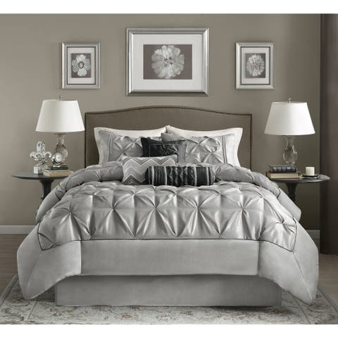 Madison Park Lafayette Grey Comforter Set
