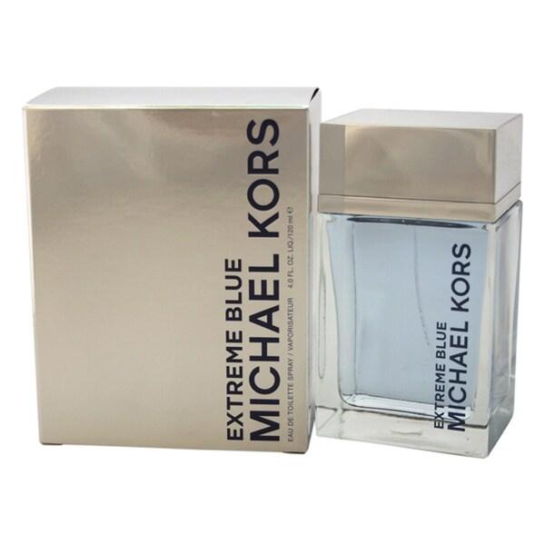 43d6cd3625f8 Shop Michael Kors Extreme Blue Men s 4-ounce Eau de Toilette Spray - Free  Shipping Today - Overstock - 11419152