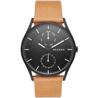 Skagen Men's SKW6265 Holst Multi-Function Black Dial Beige Leather Watch