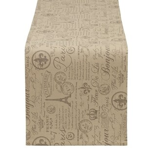 French Flourish Printed Reversible Table Runner