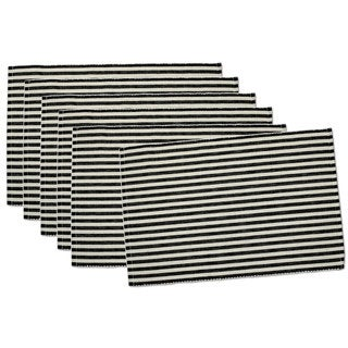 Black Petite Stripe Placemats (Set of 6)