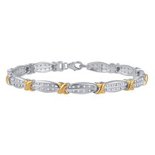 Divina Gold over Silver 1/2ct TDW Diamond Fashion Bracelet (I-J, I2-I3)