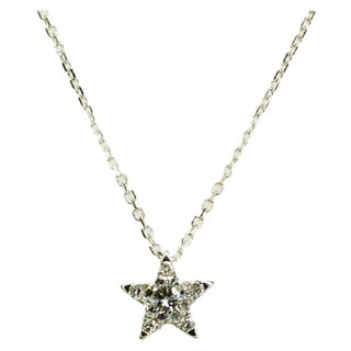 Kabella 18k White Gold 2/5ct TDW Diamond Star Pendant (G-H, SI1-SI2)