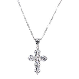 Kabella 18k White Gold 1 1/4ct TDW Cross Diamond Pendant (G-H, SI1-SI2)