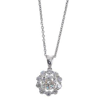Kabella 18k White Gold 1 1/8ct TDW Round Diamond Pendant (G-H, SI1-SI2)