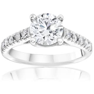 14k White Gold 1 1/4ct TDW Diamond Clarity Enhanced Engagement Diamond Solitaire Accent Ring|https://ak1.ostkcdn.com/images/products/11419294/P18382323.jpg?impolicy=medium