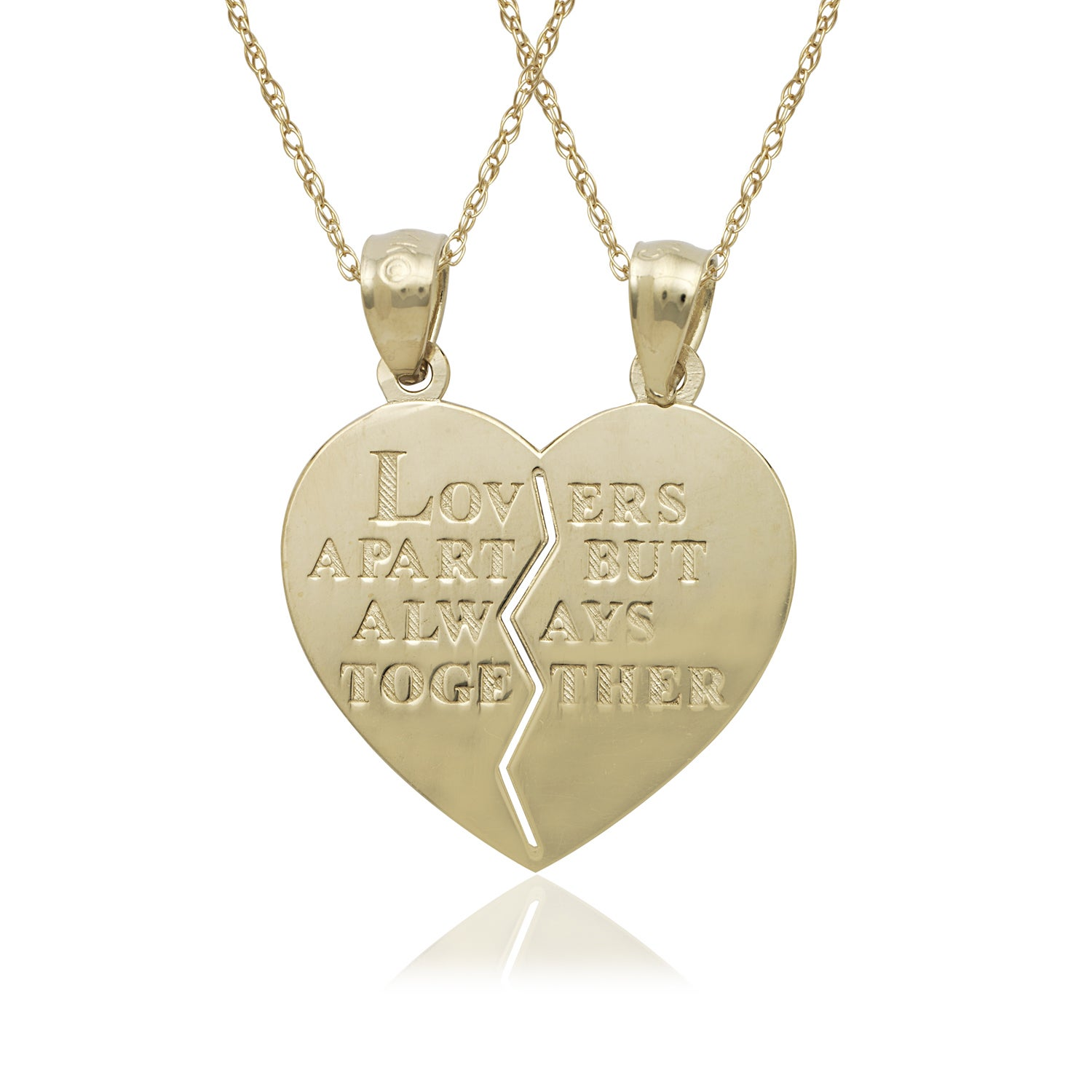 14k Yellow Gold 16 Heart Charm