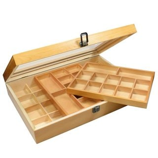 Ikee Design Natural Wood Two Level Display Box