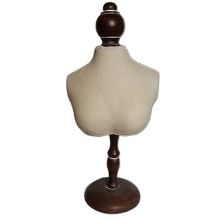 Ikee Design Fabric Covered Mini Bust Display