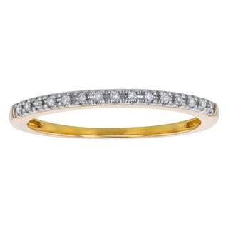 Beverly Hills Charm 10k Yellow Gold 0.06ct TDW Diamond Stackable Ring