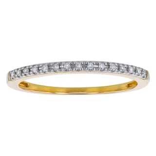 10k Yellow Gold 0.06ct TDW Diamond Stackable Ring