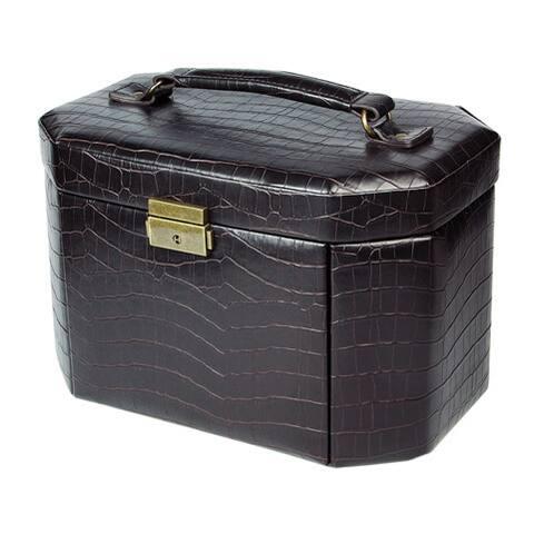 Luxury Leatherette Jewelry Lockable Storage Case