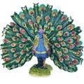 Rucinni Austrian Crystal Emerald Green Peacock Jewelry Trinket Box