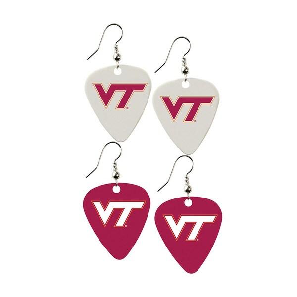 Virginia Tech Hokies NCAA Guitar Pick Dangle Earrings Charm Gift - Set of 2