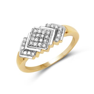 Malaika 14k Yellow Gold Overlay 1/4ct TDW Diamond Ring (I-J, I2-I3)