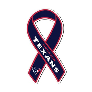 Houston Texans Sports Team Logo Ribbon Magnet