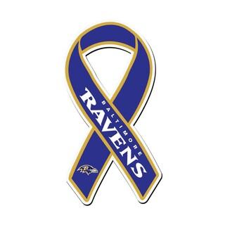 Baltimore Ravens Sports Team Logo Ribbon Magnet