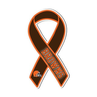 Cleveland Browns Sports Team Logo Ribbon Magnet