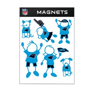 Carolina Panthers Sports Team Logo Family Magnet Set