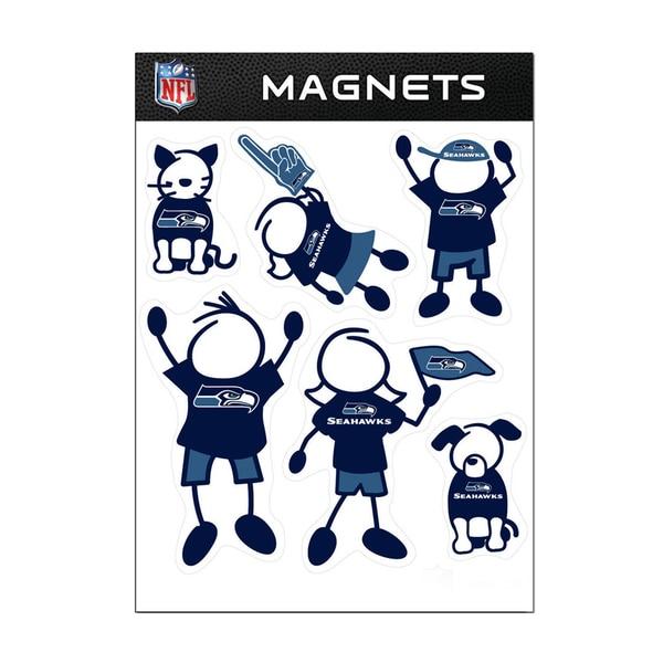 Seattle Seahawks Sports Team Logo Family Magnet Set