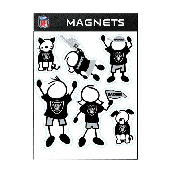 Oakland Raiders Sports Team Logo Family Magnet Set
