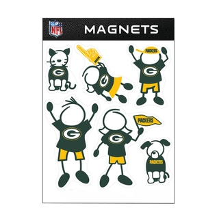 Green Bay Packers Sports Team Logo Family Magnet Set