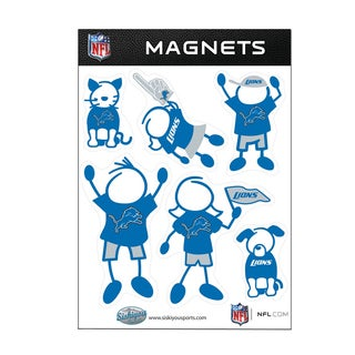 Detroit Lions Sports Team Logo Family Magnet Set