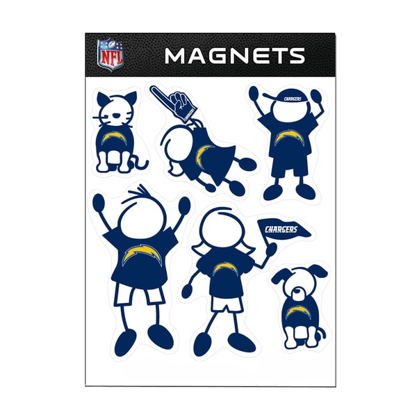 San Diego Chargers Sports Team Logo Family Magnet Set