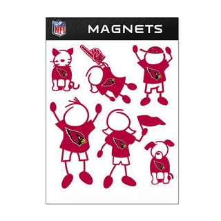 Arizona Cardinals Sports Team Logo Family Magnet Set