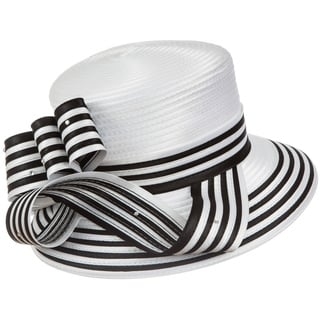 Giovanna Signature Women's Stripe Ribbon Hat