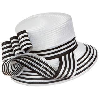 Giovanna Signature Women's Stripe Ribbon Hat|https://ak1.ostkcdn.com/images/products/11420395/P18383230.jpg?impolicy=medium