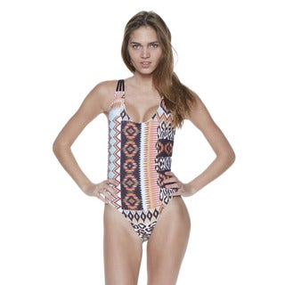 Dippin' Daisy's Mint Native Strappy Crossback Lowback One Piece