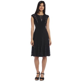 R&M Richards Lace Godet Dress
