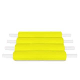 (4 Roll) Yellow Pallet Stretch Wrap Handwrap 20 In 1000 Ft 80 Gauge