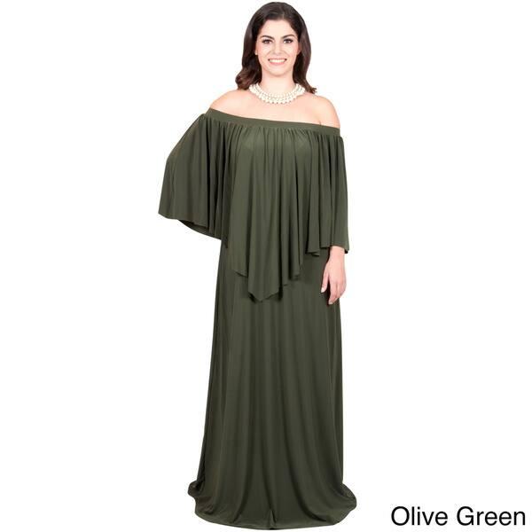 Shop KOH KOH Women\'s Plus-size Strapless Off-Shoulder Ruffle ...