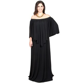 Koh Koh Women's Plus-size Strapless Off-Shoulder Ruffle Cocktail Dress
