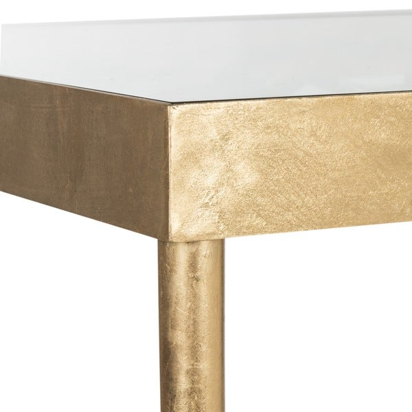 Marvelous Safavieh Rosalie Antique Gold Leaf Butterfly Console Table   Free Shipping  Today   Overstock.com   18383425