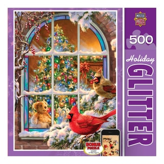 Holiday Glitter Puzzle Home for the Holidays: 500 Pieces