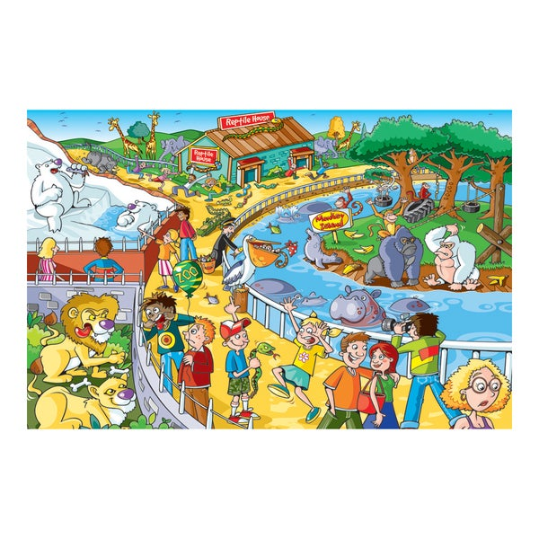 Find the Difference Puzzle A Trip to the Zoo: 60 Pieces