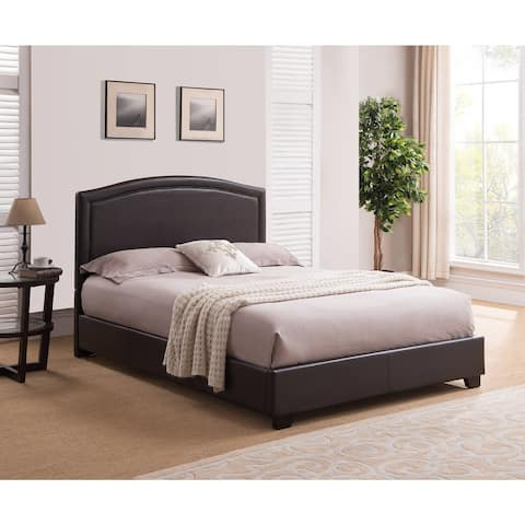 Rize Annapolis King Size Brown Leather Platform Bed