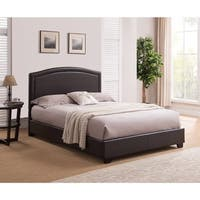 Annapolis, King Size, Brown Leather Platform Bed