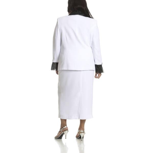 Shop Ella Belle Women\'s Plus Size Double Breasted 2-piece ...