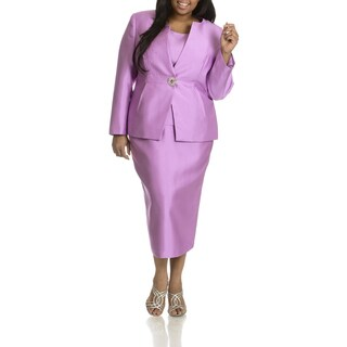 Giovanna Collection Women's Plus Size 3-piece Skirt Suit
