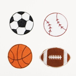 Little Haven Sports Letter Embellishments (Set of 4)