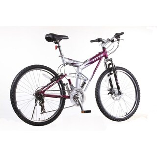 Fusion PRO Purple Alloy Dual Suspension All Terrain 21-Speed 19-Inch Frame Mountain Bike