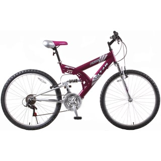 Punisher 21-Speed Dual Suspension Purple All Terrain Mountain Bike