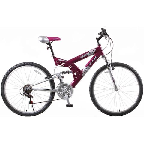 Punisher 21-Speed Dual Suspension Purple All Terrain Mountain Bike