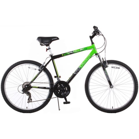 Trail 21-speed Green/ Black Suspension Men's Mountain Bike