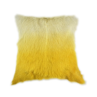 Aurelle Home Aurelle Home Goat Fur Pillow Yellow